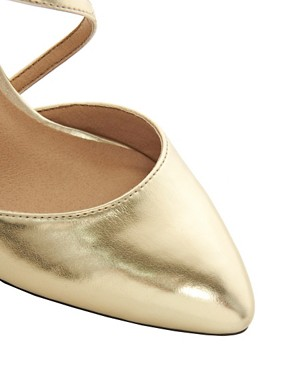 Image 2 ofASOS SHAKEN Metallic Pointed Heels