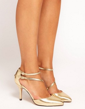Image 3 ofASOS SHAKEN Metallic Pointed Heels