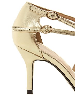Image 4 ofASOS SHAKEN Metallic Pointed Heels
