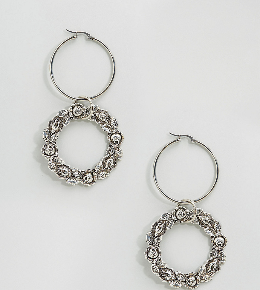 regal-rose-virginia-floral-wreath-hoop-earrings-silver