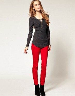 Image 4 ofFree People Coloured Skinny Jean