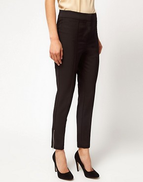 Image 4 ofASOS Premium Super Skinny Pintuck Trouser
