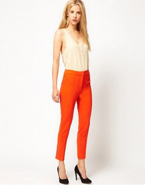 Image 1 ofASOS Premium Super Skinny Pintuck Trouser