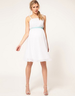 Image 4 ofASOS Maternity Exclusive Midi Dress With Skater Skirt