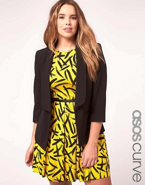 Image 1 of ASOS CURVE Exclusive Shrunken Blazer