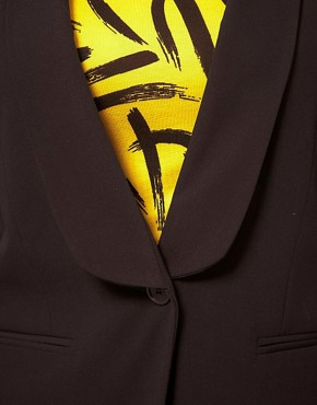 Image 3 of ASOS CURVE Exclusive Shrunken Blazer