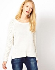 Selected  Baumwollpullover mit Zopfmuster