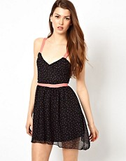 Wal G Skater Dress With Contrast Straps