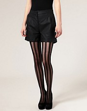 ASOS Solid Sheer Stripe Tights