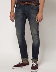 G Star 3301 Super Slim Dark Aged Jeans