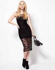 To Love Kuvaa Lace Midi Dress