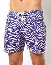 Scotch &amp; Soda All Over Zebra Print Swim Shorts