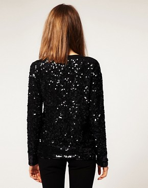 Image 2 ofASOS Premium Embellished Diamond Jumper