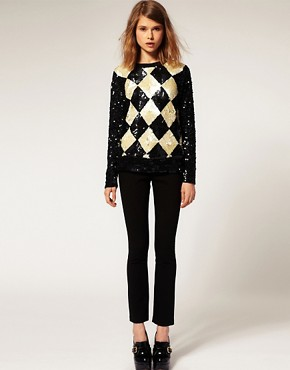 Image 4 ofASOS Premium Embellished Diamond Jumper