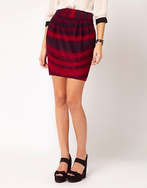 Image 4 ofASOS Super Soft Bell Mini Skirt