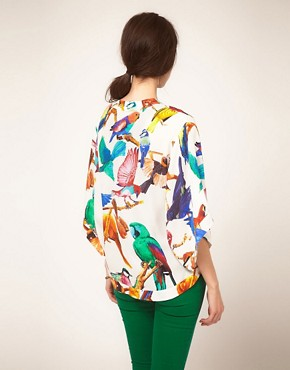 Image 2 ofSass and Bide &#39;Out of Focus&#39; Bird Print Silk Kimono
