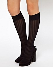 Gipsy Rayures Jacquard Knee High Socks