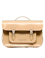 "Cambridge Satchel Company Leather 15"" Patent Batchel Exclusive To ASOS"