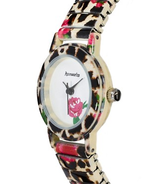 Image 3 ofAccessorize Leopard &amp; Flower Watch
