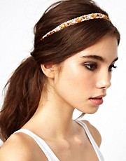 Diadema con cuentas y lentejuelas de ASOS