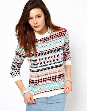 Image 1 ofLacoste L!Ve Patterned Jumper