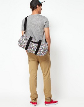 Image 3 ofASOS House Party Geo Barrel Bag