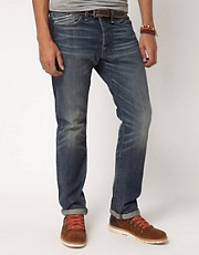 Replay Jeans Waitom Straight Mid Blue