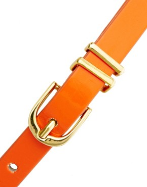 Image 2 ofASOS Metal Keeper Super Skinny Waist Belt