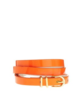 Image 1 ofASOS Metal Keeper Super Skinny Waist Belt