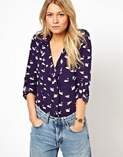 Oasis Blouse In Swan Print