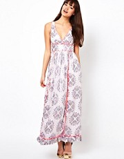 Manoush Imperial Maxi Dress in Silk and Lurex