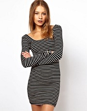 American Apparel Body-Conscious Striped Dress