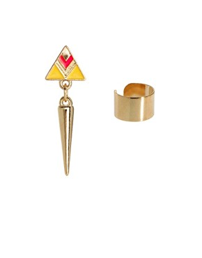 Image 1 ofASOS Mismatch Enamel Spike and Cuff
