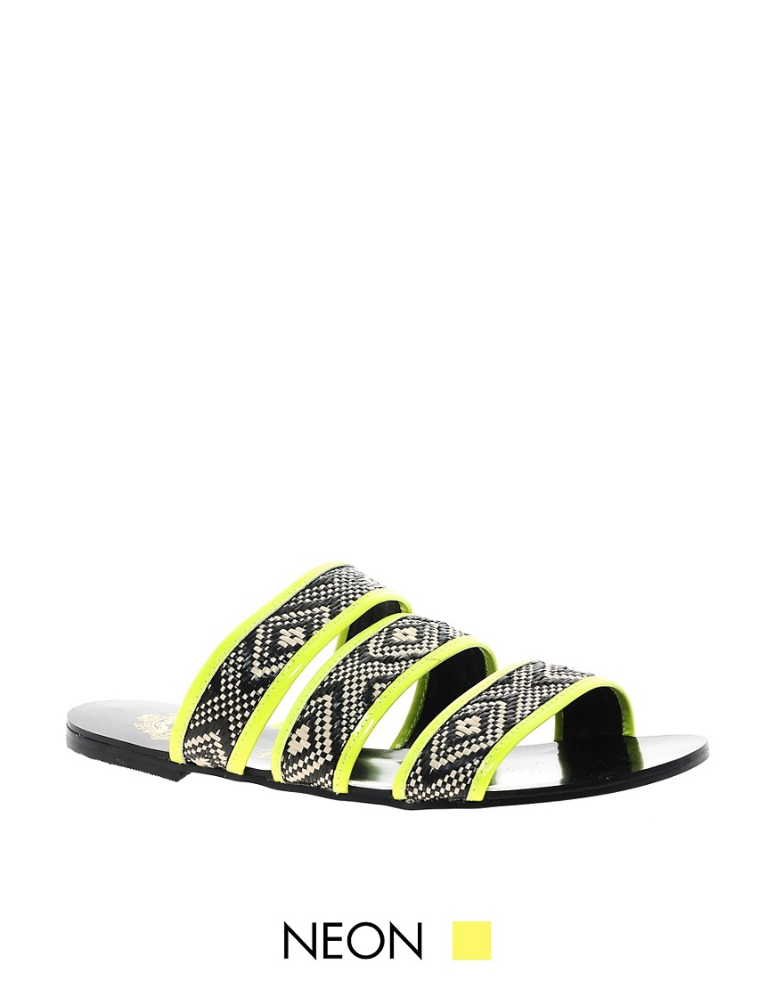 Sol Society Holly Flat Sandals - Yellow