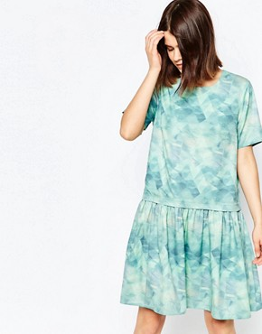 Y.A.S Abstract Pixie Print Short Sleeve Dress