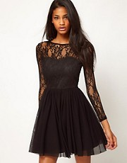 Rare Lace Sweetheart Tutu Skater Dress