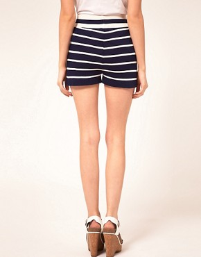 Image 2 ofASOS PETITE Exclusive Stripe Shorts