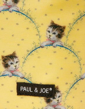 Image 3 ofPaul &amp; Joe Cat Print Cosmetic Bag