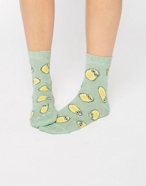 ASOS Glittery Avocado Socks