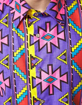 Image 3 ofReclaimed Vintage 90&#39;s Aztec Shirt