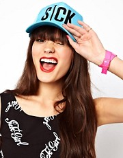 Sick Girl Blue Snapback Cap
