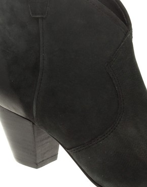 Image 2 ofAsh Jalouse Suede Mid Heel Ankle Boots