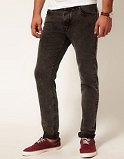 ASOS Skinny Jeans In Washed Black