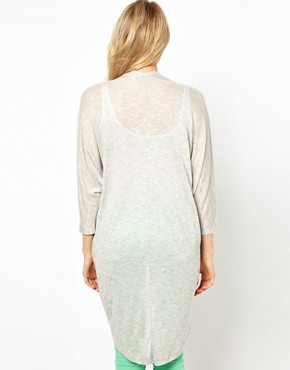Image 2 of ASOS Longline Cardigan with Dipped Back