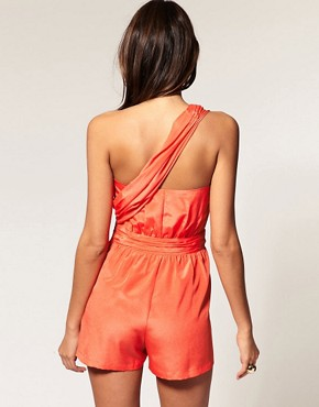 Image 2 ofASOS Playsuit with Twist Wrap Front