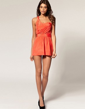 Image 4 ofASOS Playsuit with Twist Wrap Front