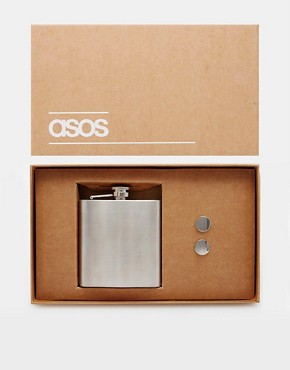 ASOS Gift Set With Cufflinks and Hip Flask