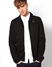 G Star Overshirt Jacket Blan Zip Front