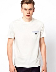 Fred Perry T-Shirt with Seersucker Trim Pocket