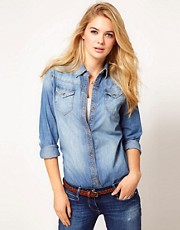 Miss Sixty Darya Denim Shirt